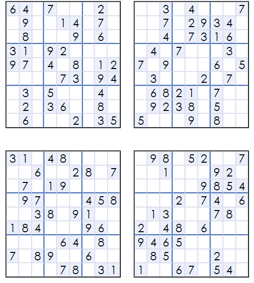 Satisfactory image within free printable sudoku 4 per page